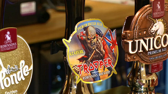 Iron Maiden Beer in Manchester bars