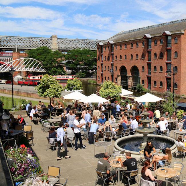 Manchester Castlefield bars
